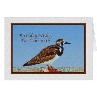 Birthday, 98th, Ruddy Turnstone Bird Card