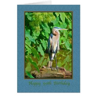 Birthday, 99th, Great Blue Heron Card