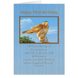 Birthday, 99th, Rough-legged Hawk Card