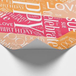 Birthday Add Short Name Color Block Orange ID274