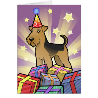 Birthday Airedale Terrier / Welsh Terrier Card