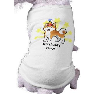 Birthday Akita Inu / Shiba Inu Dog T-shirt