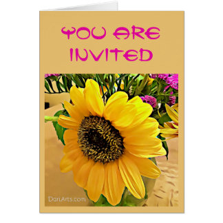 Birthday, Anniversary Party Sunflower invitation