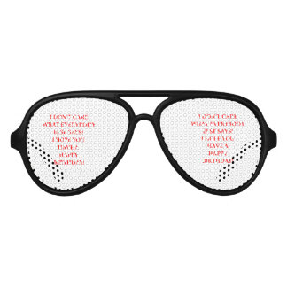 birthday aviator sunglasses