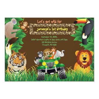 Birthday Baby, Safari birthday, jungle animals Card