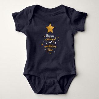 Birthday, Baby Shower, Shakespeare Golden Star Baby Bodysuit