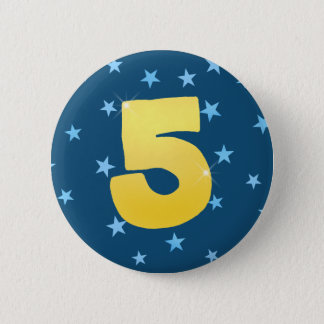 Birthday badge - customisable number pin
