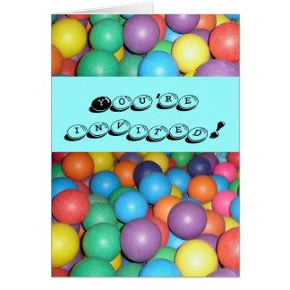 Birthday Ball invitation