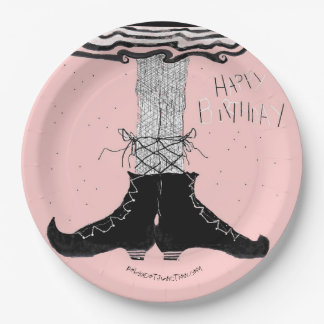 Birthday Ballerina Witch Paper Plate