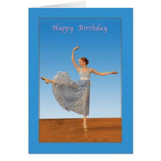 Birthday, Ballet Dancer Card