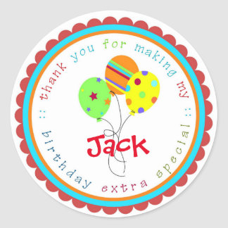 Birthday Balloons Birthday Party favor Tags