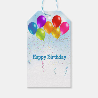 Birthday Balloons Gift Tags