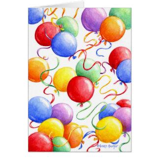 Birthday Balloons Greeting Card