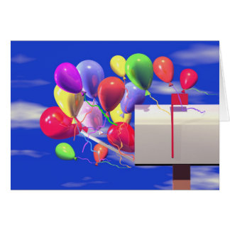 Birthday Balloons in a Mailbox Card