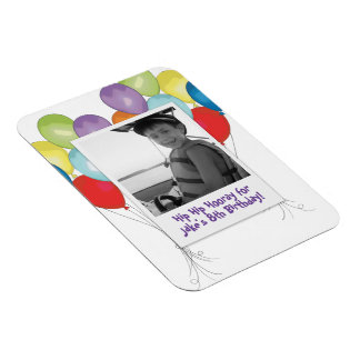 Birthday Balloons Photo magnet