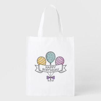 Birthday Balloons reusable bag