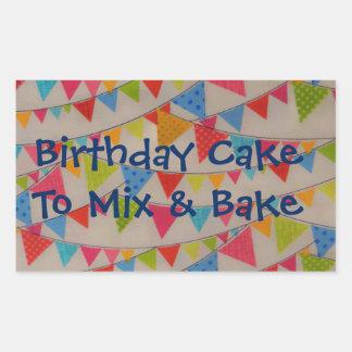 Birthday Banners Cake Mix Label