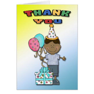 Birthday Bash Boy B Thank You cards