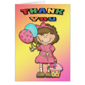 Birthday Bash Girl Thank You cards