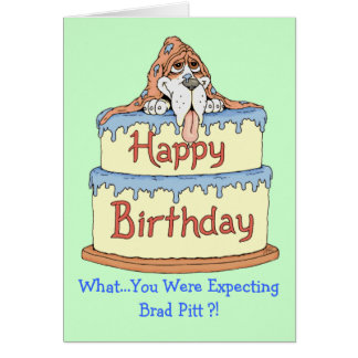 Birthday Basset Card