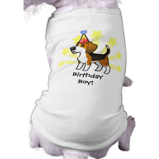 Birthday Beagle Doggie Tee Shirt