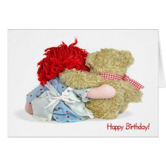 Birthday Bear and Doll Card