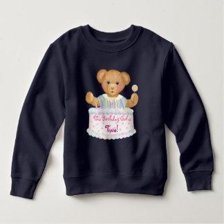 Birthday Bear Girl - Second Birthday Sweatshirt