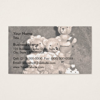 Birthday bears business card