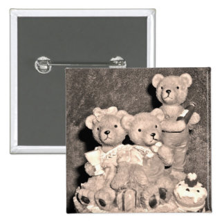 Birthday bears pinback buttons
