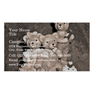 Birthday bears pack of standard business cards