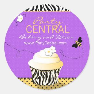 Birthday Bee Business Sticker Purple
