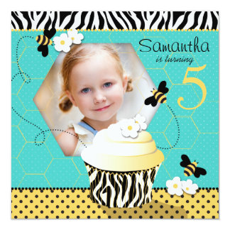 Birthday Bee Cupcake Birthday Card