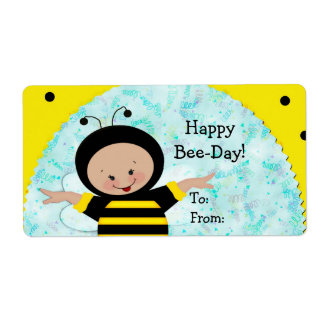 Birthday Bee Gift  Labels