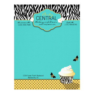 Birthday Bee Letterhead