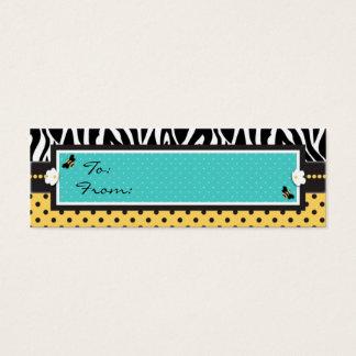 Birthday Bee Skinny Gift Tag Mini Business Card