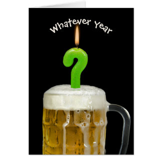 Birthday beer with candle card