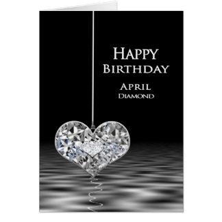 Birthday - Birthstone - April - Diamond Card