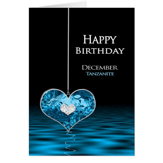 Birthday - Birthstone - December - Tanzanite Card