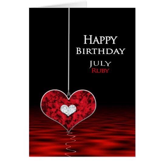 Birthday - Birthstone - JULY - Ruby Card