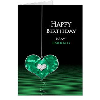 Birthday - Birthstone - May - Emerald Card