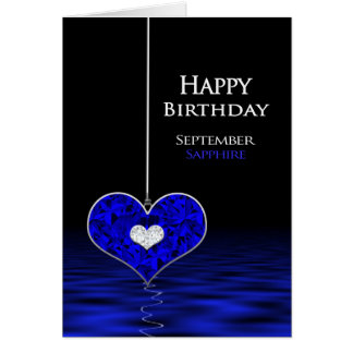 Birthday - Birthstone - September - Sapphire Card