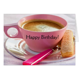 Birthday Biscotti and Coffee Birthday Card