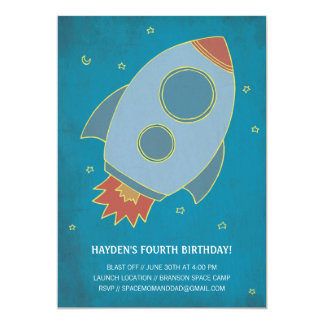 Birthday Blast Off! Children's Birthday Invitation