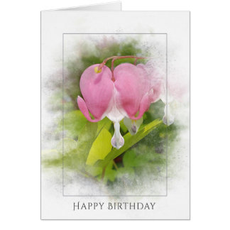 birthday-bleeding heart blossom card