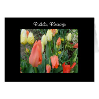 Birthday Blessings Spring Tulips Card
