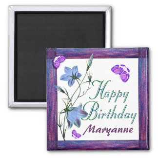 Birthday Bluebells and Butterflies Magnets