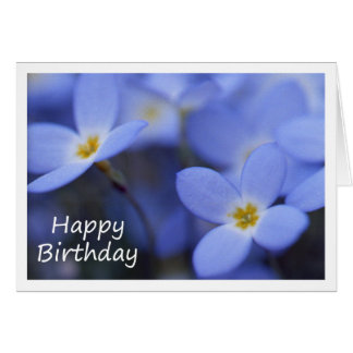 Birthday - Bluettes Greeting Card