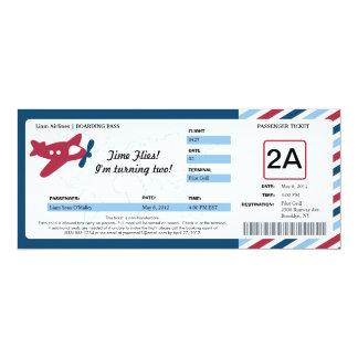Birthday Boarding Pass Ticket Card