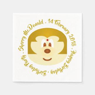 Birthday - Bob Hair Lady 鮑 鮑 Paper Napkin