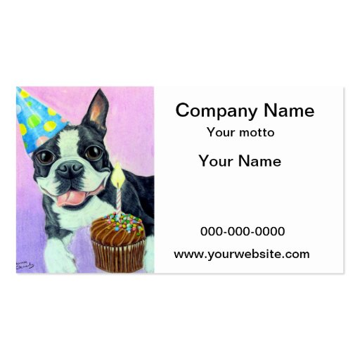 Birthday Boston Business Cards